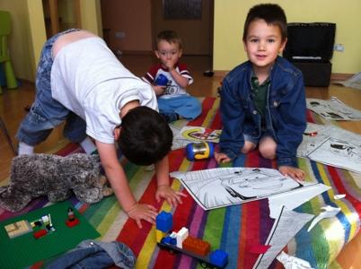 Boys creating chaos